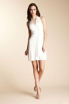 Onyx Nite & Marina Halter Empire Dress
