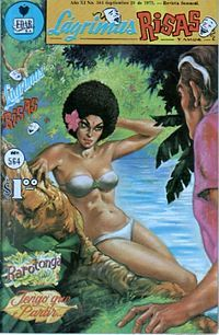 Rarotonga was a Mexican comic book series that appeared between the 1950s–1970's. The main character of the comic series was Rarotonga, a jungle queen of an island of the same name who occupied her days dancing and romancing travelers.