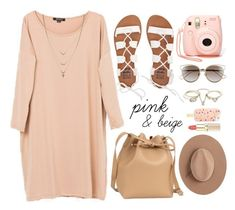 """Nudes"" by genuine-people ❤ liked on Polyvore featuring Billabong, Lipsy, Christian Dior, Calypso Private Label, Tory Burch, Jessica Simpson, Pink and beige"