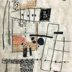 Aideen Canning # Stickstiche – Gabriela Catan Aideen Canning stitches Aideen Canning Stiche Sashiko Embroidery, Embroidery Fabric, Hand Embroidery Stitches, Fabric Art, Embroidery Designs, Fabric Design, Abstract Embroidery, Hand Stitching, Design Design