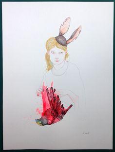 """Delphine VAUTE """"titre"""" 2015 galerie 3e parallèle, Paris Salon Ddessin {15}"""