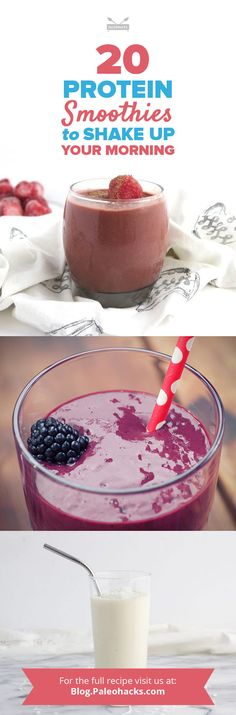 Need something to keep you full and energized? Start your day with these protein smoothies and luxuriate in what tastes like thick, velvety milkshakes! Get the recipes here: http://paleo.co/proteinsmoothiercps