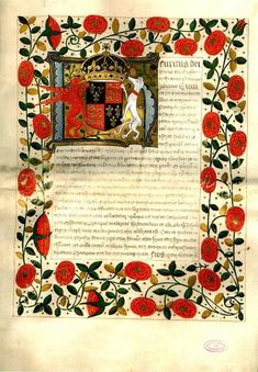 Marriage contract of Henry VIII and Katherine of Aragon, 1503 This is the original marriage contract between Henry VIII and Katherine of Aragon. It was signed in 1503 and the Pope granted the. Marie Tudor, Dinastia Tudor, Los Tudor, Tudor History, European History, British History, Medieval Manuscript, Illuminated Manuscript, Henri V