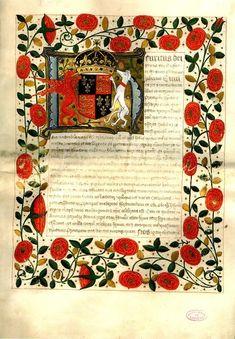 Original marriage contract between Henry VIII and Katherine of Aragon, circa 1503.