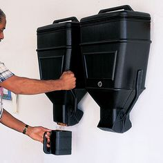 Jumbo Storage Dispenser - Could use for cat foot....hmmm... mounted above dryer...unless it interferes with the other 99 ideas I have for fitting 10 pounds of crap in a 5 pound space above my dryer!