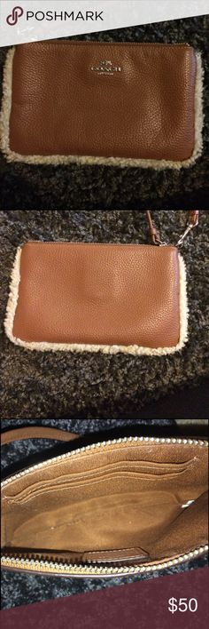 Coach wristlet Used multiple times but still in great condition!! Coach Bags Clutches & Wristlets