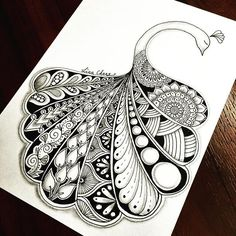 694 best Mandalas images in peacock mandala drawing collection - ClipartXtras Doodle Paint, Doodle Art Drawing, Zentangle Drawings, Pencil Art Drawings, Art Drawings Sketches, Zentangles, Pencil Sketches Easy, Doodle Designs, Doodle Patterns