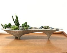 Island Concrete Planter, modern, long planter, home decor, office planter, gift, modern design, succulent, plants, valentines gift