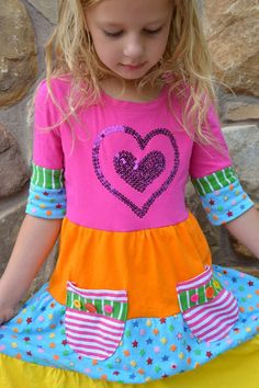 The Punky Brewster Dress Tutorial {aka an upcycled scrappy dress} hazel and company