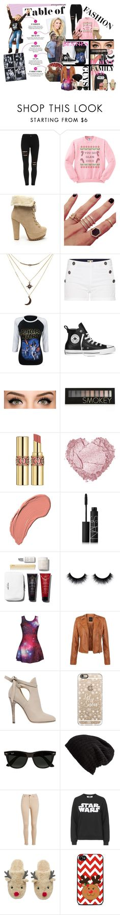 """"""""""" by reaganbalentyne ❤ liked on Polyvore featuring Melanie Auld, Charlotte Russe, Barbour, Converse, Forever 21, Yves Saint Laurent, NYX, NARS Cosmetics, Jimmy Choo and Casetify"""