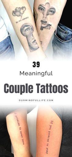 Couple Tattoo Ideas That Are Better Than A Ring - & paar tattoo ideen, die besser sind als ein ring - Couple Tattoo Ideas That Are Better Than A Ring - & Feather tattoos.
