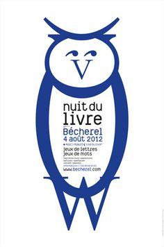 2012 : nuit du livre Lectures, Concert, Advertising, Typography, Graphic Design, Posters, Characters, Letter Games, Word Games