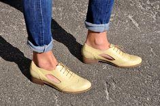 Brickell Oxford de cuero zapatos hechos a mano por JuliaBoShoes