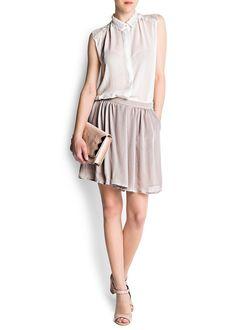 MANGO - CLOTHING - Skirts - Pleated culottes
