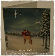 Gunns Papirpyssel Christmascard Deer, Pion Design,Julekort, card, kort, scrapbooking, scrapping, papir, paper