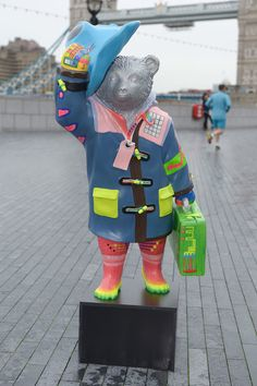 Celebrity designed bears for the NSPCC Paddington Trail are launched at Tower Bridge, London, Britain on 3 Nov 2014  By Jon Furniss 07710219616
