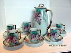 Handpainted Tea Set Made in Bavaria with Tea by VintageLoversShop, $95.00