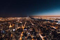 NYC skyline at night. Night Aesthetic, City Aesthetic, New York From Above, Iphone Wallpaper Night, Nyc Skyline, Dream City, Living In New York, Night City, Park Avenue
