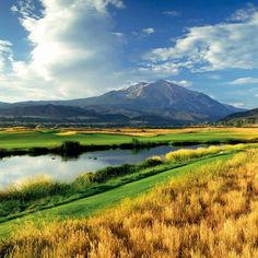 River Valley Ranch Golf Club - Carbondale, CO Valley Ranch, Golf Clubs, Golf Courses, River, Mountains, Nature, Image, Naturaleza, Natural
