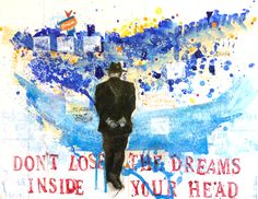 """**SOLD** """"You Never Know"""" Roadside Signs, Dave Matthews, Just Breathe, You Never Know, Mixed Media Painting, Little Darlings, Vintage Paper, Thats Not My, Inspired"""