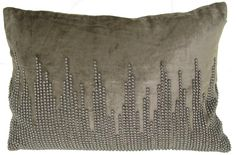 NYC Velvet Pillow Grey - 14 x 20 in.
