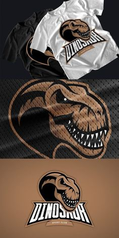 This is a dragon mascot logo that can be applied on sports gear and esports. It can be modified for alternative colours and different text feel free to check. Dinosaur Head, Game Logo Design, Esports Logo, Sports Team Logos, Mascot Design, Monster Design, Logo Concept, Art Logo, Visual Identity