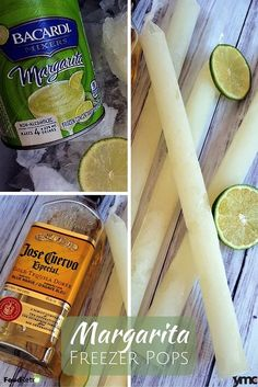 Allow me to introduce to you the Mr. Freeze for those of drinking age: the Lime Margarita Freezer Pop. Be the life of the summer BBQ with these alcoholic freezies. Or simply have a frozen margarita wh Party Drinks, Cocktail Drinks, Fun Drinks, Beverages, Fun Cocktails, Alcoholic Popsicles, Alcoholic Drinks, Vodka Popsicles, Wine Popsicles