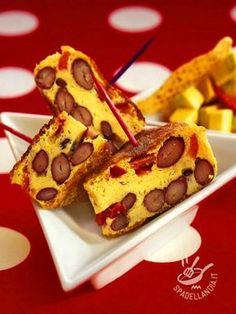 La Frittata al forno con fagioli rossi può essere uno sfiziosissimo antipasto: tagliatela a triangolini e serviteli infilzati in stuzzicadenti colorati!