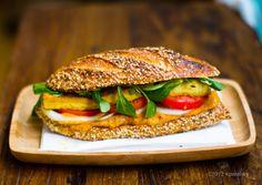 Crispy Tofu Sandwich with Sweet Potato-Pumpkin Spread. - Healthy. Happy. Life.