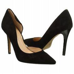 Women's Jessica Simpson Claudette Pump Black Suede Shoes.com