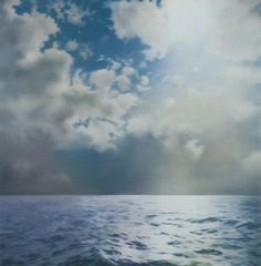 Gerard Richter - 'Seascape' 2x2 metres. Oil on canvas