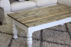 I found an old coffee table at a thrift store and had to buy it when I saw the legs; they were so chunky and incredible! My original plan was to tear the ...
