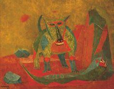 Rufino-Tamayo, Perro y serpiente, 1943