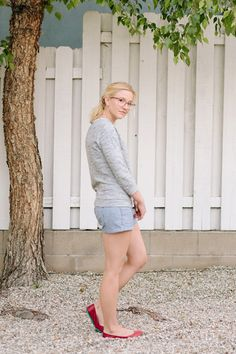 Striped shorts for summer