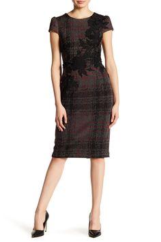 Image of Betsey Johnson Plaid Embroidered Knit Sheath Dress Dresses For Work, Formal Dresses, Top Designer Brands, Nordstrom Dresses, My Outfit, Sheath Dress, Betsey Johnson, Skinny Jeans, Plaid
