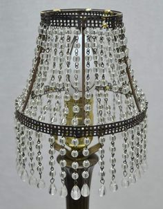 Beaded lampshade i made from an old lampshade wire frame and close find this pin and more on handmade beaded lampshade by lalitishu greentooth Choice Image