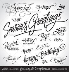 Seasonal & Holiday Greetings Set  EPS Template • Download ➝ https://graphicriver.net/item/seasonal-holiday-greetings-set/286801?ref=pxcr