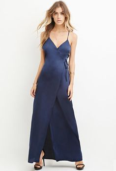 Satin Wrap Maxi Dress | Forever 21 - 2000163622 $29.90