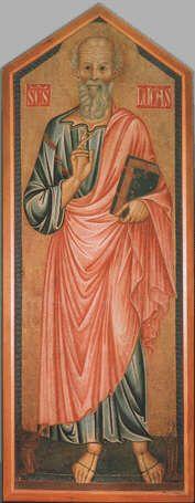 Saint Luke - Maddelena Master (Tempera on wood, 132x50)