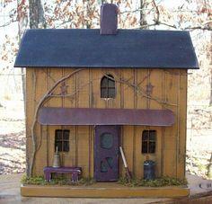 Primitive Farmhouse-Lighted in Mustard