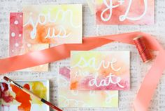 DIY: Watercolor Postcard Save the Dates - Project Wedding (could work as holiday postcards!)