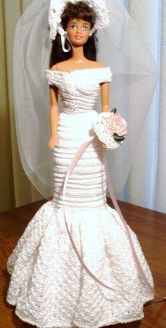 BRIDE DOLL - BARBIE(2-114) #DollClothingAccessories