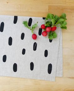 Brushstroke tea towel - Cotton & Flax