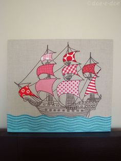 embroidered & appliqued ship | Flickr - Photo Sharing!