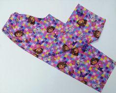 Dora The Explorer Pajama Pants, Satin Bonnet
