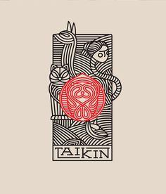 restaurant illustration Taiken Japanese Restaurant Branding by Oscar Bastidas Grits + Grids Game Design, Web Design, Flyer Design, Branding Design, Logo Branding, Design Packaging, Stationery Design, Japanese Poster Design, Design Poster