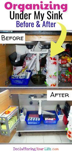 kitchen organization under sin k - organize under kitchen sink ideas