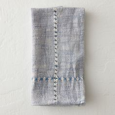 """Expertly crafted by female artisans in an Ethiopian fair-trade collective, this cotton napkin gets a distinctive finishing touch from hand-tied warp threads.- Cotton- Machine wash, tumble dry- Handmade in Ethiopia19""""W, 19""""L"""