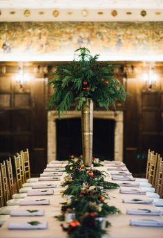 Holiday table setting in the historic Common Room at Salisbury House and Gardens.   Photo credit: Jessica Dean
