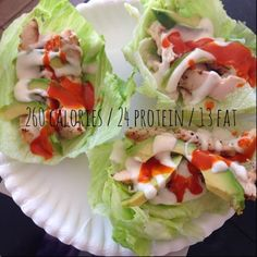 Twins + One, How Mama Got Her Groove Back: Buffalo Chicken Lettuce Cups, low carb, high protein, low calorie lunch